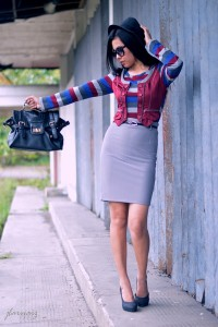 "Heather Gray Pencil Skirt Vintage Skirts, Black Heelspumps S & H Shoes | ""Pencil Skirt"" by jlarnaiz 
