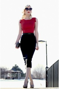"Black Clutch OASAP Bags, Ruby Red Worn As A Shirt OASAP Dresses | ""Bold & Timeless"" by ChicagoChic 