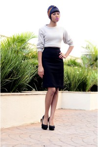 "Cream Coat Coats, Black Pencil Skirt Skirts | ""Coat + skirt midi"" by LarissaCunegundes 