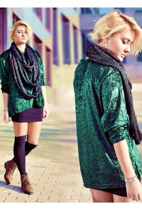 "Green Velvet Tops, Brown Boots, Black DIY Wool Scarves, Black Socks | ""velvet"" by lienuu 