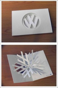 Misc / Typeverything.com Volkswagen Christmas Card by Chris Moore. — Designspiration