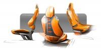 Hyundai Intrado Concept Interior Seats Design Sketches - Car Body Design