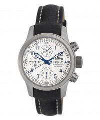 FORTIS B-42 FLIEGER CHRONOGRAPH AUTO WR 200M BLACK LEATHER STRAP 635.10.12 L.01 - FORTIS