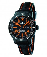 FORTIS B-42 BLACK MARS 500 DAY/DATE AUTO WR 200M BLACK LEATHER 647.28.13 L.13 - FORTIS