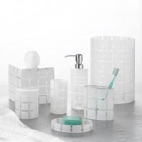 Del Sasso Frosted Glass Spa Accessories, Bath Accessories, Basic Bath - Luxor Linens
