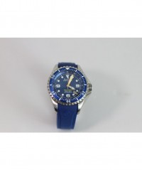 AZIMUTH XTREME-1 'SEA-HUM GMT DIVING WATCH 1500m/4921ft WR BLUE RUBBER STRAP - AZIMUTH