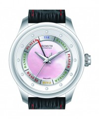 AZIMUTH ROUND-1 GRAND BACCARAT GAME LADIES ENTRY WATCH MOTHER of PEARL DIAL - ROUND-1 - AZIMUTH