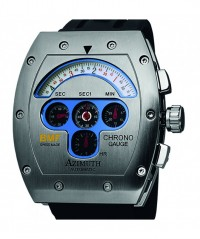AZIMUTH MECHA-1 CHRONO GAUGE BMF WATCH S/S CASE MODIFIED VALJOUX 7750 AUTO - MECHA- 1 - AZIMUTH