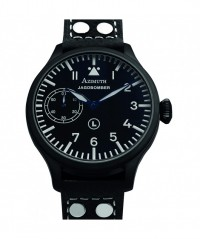 AZIMUTH MILITARE-1 JAGDBOMBER PVD WATCH 47mm BLUED HANDS BUFFALO STRAP - MILITARE-1 - AZIMUTH