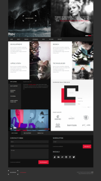 dark, concept, layout, contrast, red | Inspiration DE