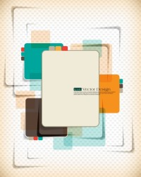 ABSTRACT / Vector abstract dynamic set of abstract elements 01 vector