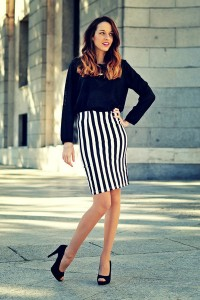 "White Pencil Skirt Choiescom Skirts, Black Animal Print H&M Sweaters | ""pencil skirt"" by corazondemaniqui 