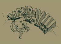 """Monday!!!"" - Threadless.com - Best t-shirts in the world"