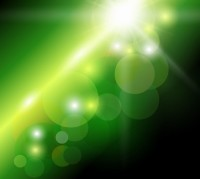 ABSTRACT / Green Bokeh Background