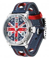 BRM RACING WATCH AUTO PISTON CASE ENGLISH FLAG DIAL300m WR V7-38-GT-CD-UK-AG - V7-38 - BRM
