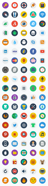 CreAtive - Flat ICON Set on