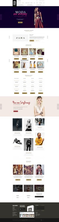Fashion portal web design on