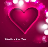 LOVE / Valentine's Day heart greeting card