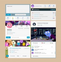 Adventure Time UI Kit [PSD] | Inspiration DE