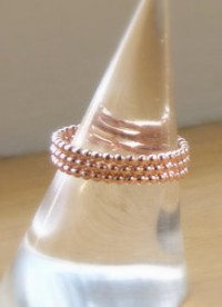 Rose Gold Rings, Rose Gold Bead Ring, Rose Gold Eternity Band, Thumb Ring, Rose Gold Stack Ring