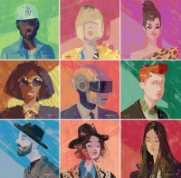 Colorful Portraits of Musicians by Tuna Bora - The Fox Is Black