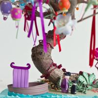 """Un temps pour rêver - """"L'arbre aux souhaits"""" un bonsaï ressuscité décoré..."""