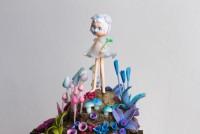 """Un temps pour rêver - """"La semeuse du bonheur"""" sculpture réalisée en pâte..."""