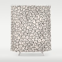 A Lot of Cats Shower Curtain by Kitten Rain | Society6