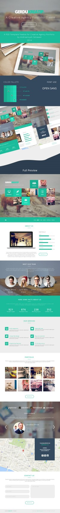 GerduKreatip: Agency Portfolio Theme | GraphicBurger | Inspiration DE