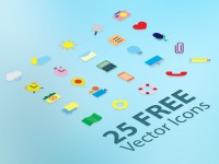 25 Free Flat Vector Icons by Lavinia Lorena