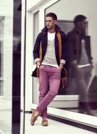 pink sky at night — Purple pants //.