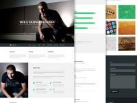 Focal Resume PSD Theme - FreebiesXpress