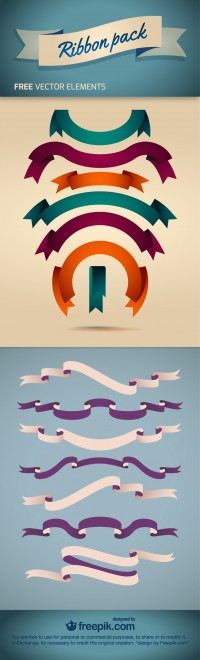 Ribbon Pack - Free Vector Element | Downgraf