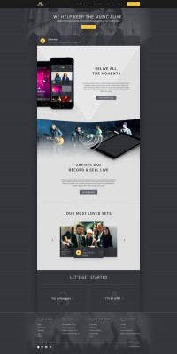 Web design / Setfm home — Designspiration