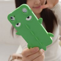 shego shopping mall — [grzxy6100081]Candy Color Cartoon Crocodile Phone Shell Case for iphone5/4S