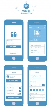 Mobile Wireframe Kit – Freebies – Fribly | Inspiration DE
