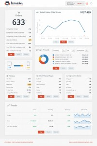 Web Traffic and Sales data dashboard by Lancaster | Inspiration DE