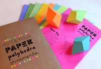 Set of 8 DIY CutandFold Paper Polyhedra par FieldGuideDesign