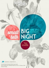 Small Talk, Big Night poster. | Inspiration DE