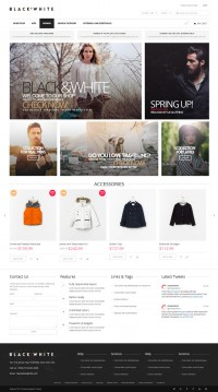 Minimalist Magento Theme for Fashion Store - WP Mustache Templates