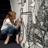 Pencil and marker wall art by Charlotte Mann | Designs Mix