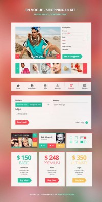 En Vogue – The Shopping UI Kit From PixelKit | Downgraf