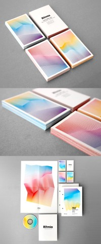 Rítmia's Elegant & Colorful Business Card & Identity