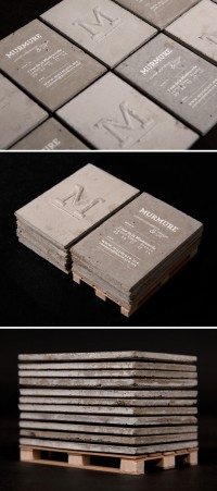 designvagabond: concrete business card