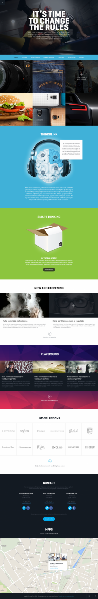 Think Blink Homepage by Bart Ebbekink | Inspiration DE