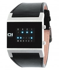 01 THE ONE KERALA TRANCE BINARY LED COOL FASHION WATCH KT102B1 LEATHER BAND - KERALA TRANCE - THE ONE 01