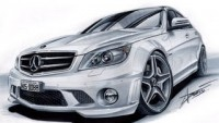 Mercedes C63 AMG drawing by Adonis Alcici - YouTube