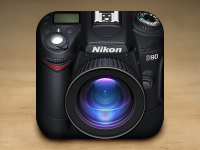 Nikon Camera iOS Icon by Gianluca Divisi