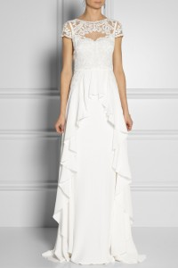 Temperley London|Bluebell silk and embroidered lace gown|NET-A-PORTER.COM
