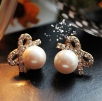 shego shopping mall — [grdx01078]Vintage Pearl Bow Earring&stud